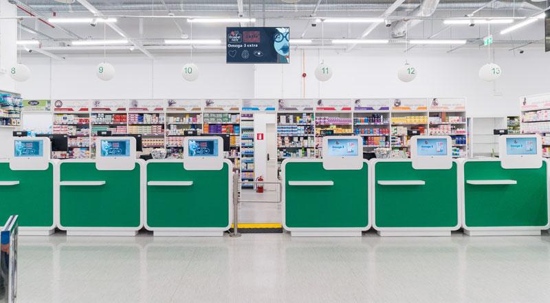 Monitoare de digital signage în Farmacia Tei Constanţa