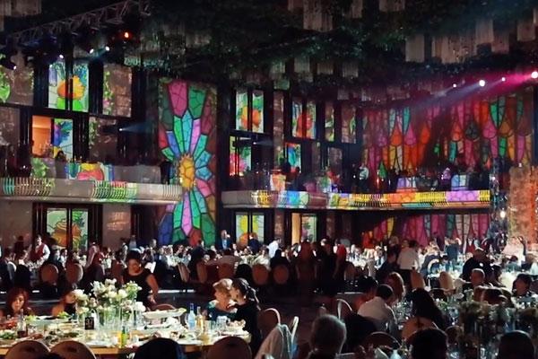 Nuntă de lux cu decorațiuni 3D prin projection mapping la 360º