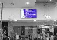 Ecran digital dintr-un magazin Bebe Tei din București