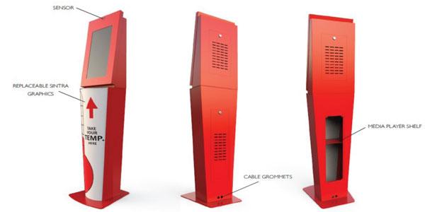 Kiosk digital de masurare a temperaturii corpului