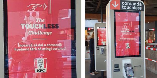 Kiosk de comandă touchless