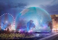 Prima structură în formă de sferă care conține cel mai mare ecran LED din lume